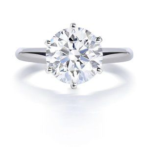 Solitaire 1.50 carat CVD diamond Wedding ring gold